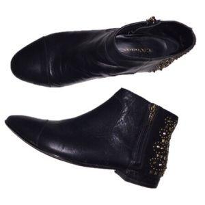 BCBGeneration black studded 8 booties